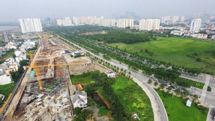 Các dự án chỉ được xây dựng sau khi có quy hoạch chi tiết tỉ lệ 1/500. Trong ảnh là một góc khu đô thị mới Thủ Thiêm - Ảnh: Tuổi Trẻ - ban-do-quy-hoach-y-nghia-cac-loai-ban-do