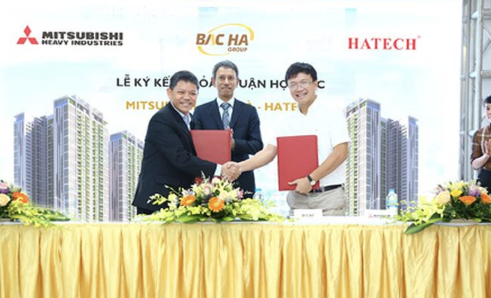 Lễ kí kết chính thức đánh dấu sự hợp tác giữa Chủ đầu tư Bắc Hà và Đại diện phân phối Hatech, dưới sự chứng kiến và tham dự của đại diện Tập đoàn Mitsubishi Heavy Industries