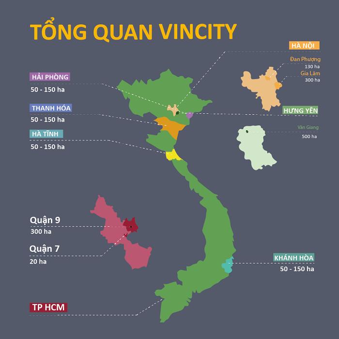 Thông tin quy hoạch các dự án Vincity trên toàn quốc