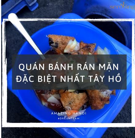 Bánh rán mặn Võng Thị đặc biệt nhất ở quận Tây Hồ