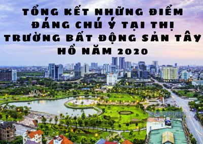 Tổng kết những điểm đáng chú ý tại thị trường bất động sản Tây Hồ năm 2020