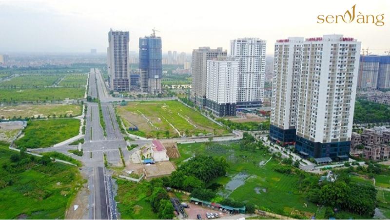 Hình ảnh thực tế Khu Đô Thị Ngoại Giao Đoàn nhìn từ trên cao