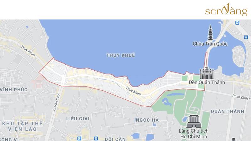 Phường Thụy Khuê trên bản đồ Google