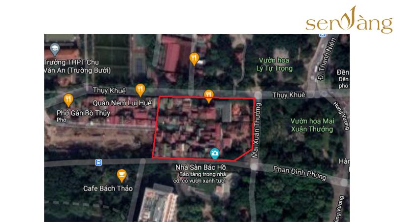 Vị trí khu đất trên bản đồ vệ tinh