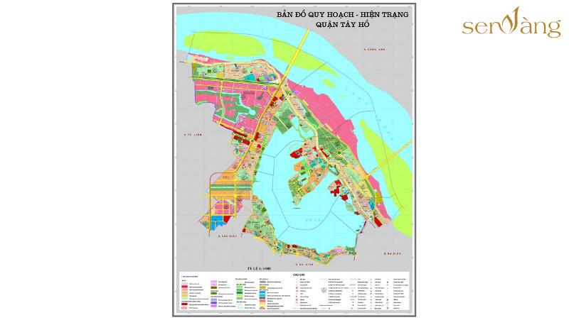 Bản đồ quy hoạch chung xây dựng quận Tây Hồ đến năm 2020