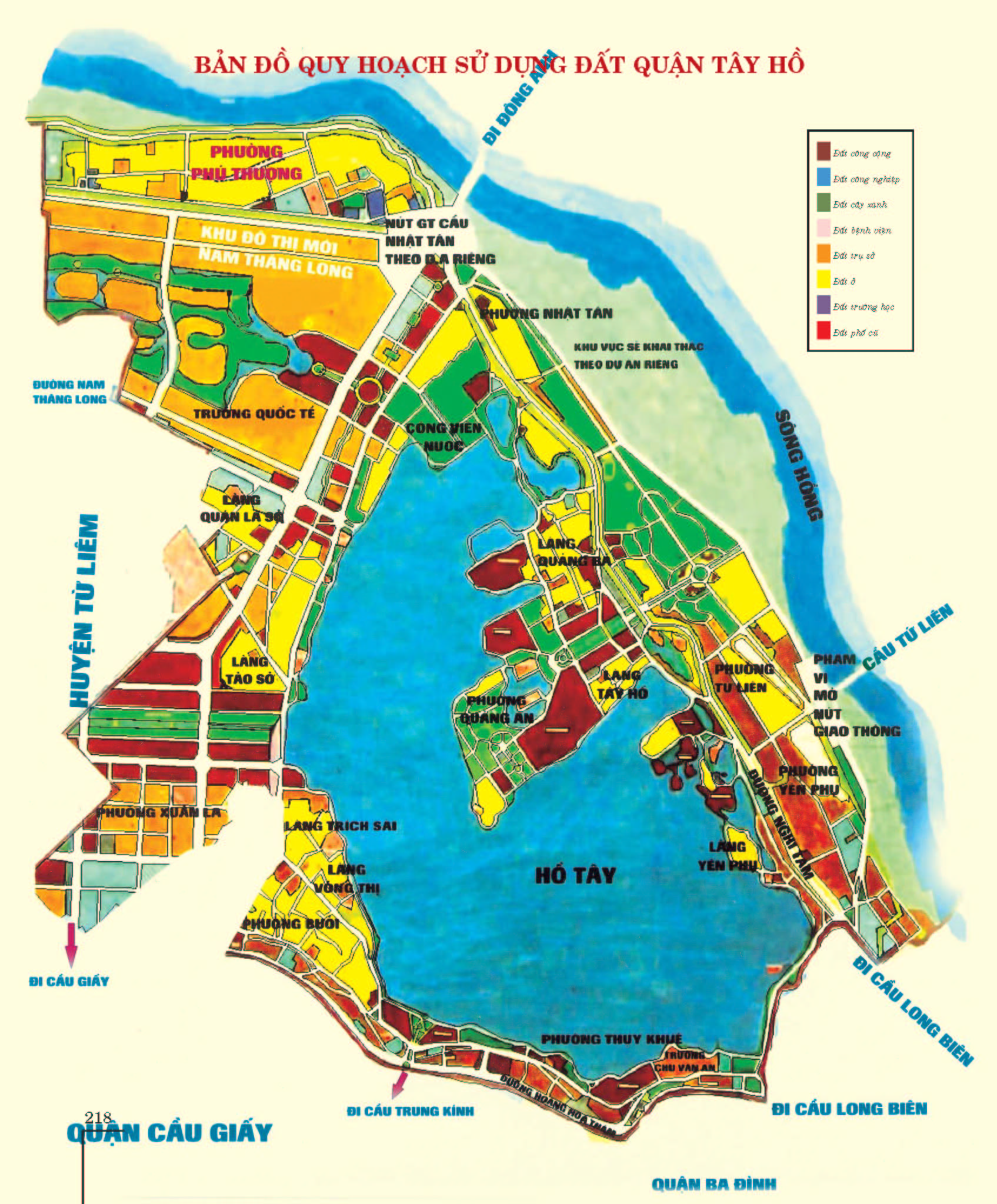 Bản đồ hành chính quận Tây Hồ