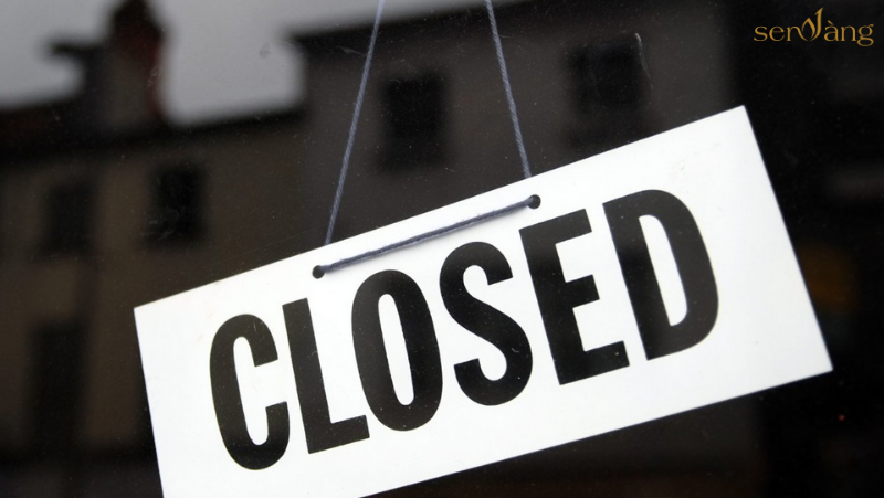 sàn giao dịch đóng cửa